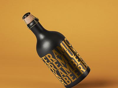 Free Dark Psd Bottle Mockup bottle mockup