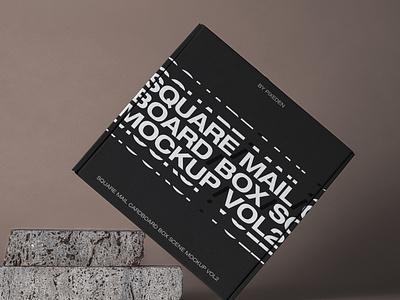 Free Square Psd Mail Cardboard Box Mockup cardboard box box mockup