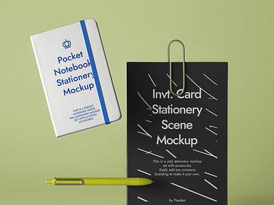Free Stationery Psd Notebook Mockup Scene branding mockup notebook mockup