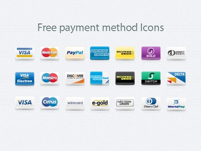 Payment Method Icons Set (Freebie) e-commerce icon payment credit card