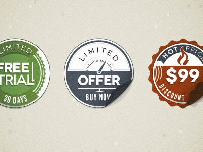 Psd Modern Vintage Stickers Badges (Freebie) vintage sticker vintage badge