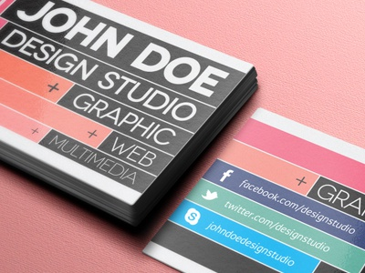Creative Business Card Template (Freebie) modern creative business card