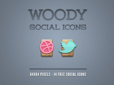 Wood Social Icons (Freebie) wood icons