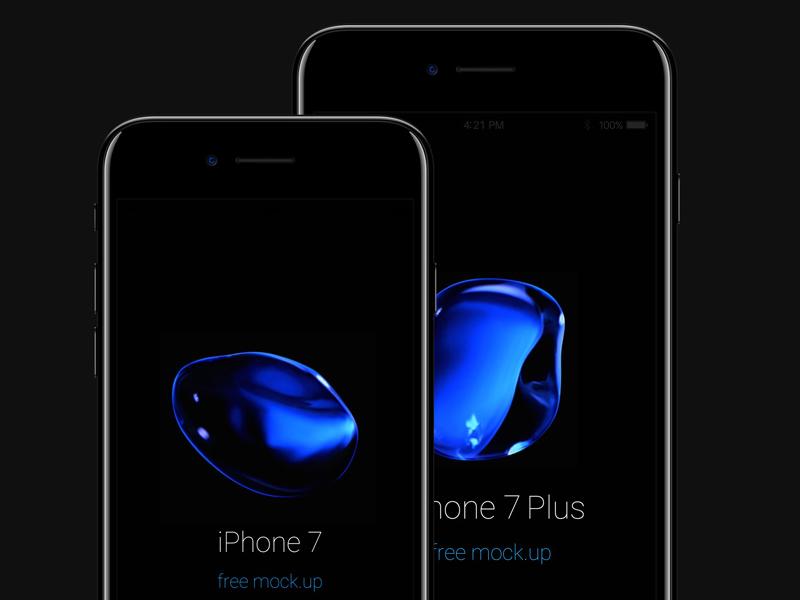 Free iPhone 7 Psd Jet Black Mockup