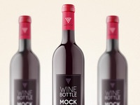 Psd Wine Bottle Mockup Template