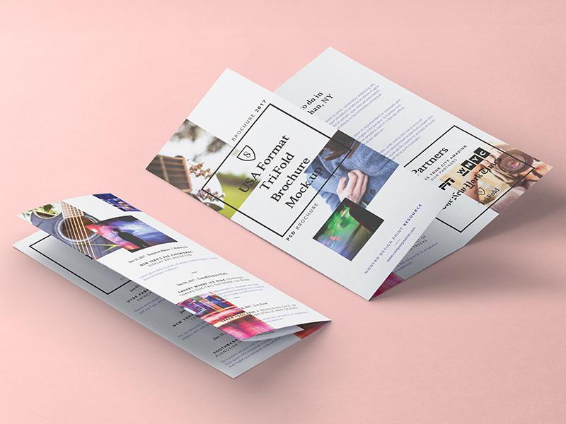 Free Tri Fold Psd 8-5x11 Inch Mockup template brochure mockup inch 8-5x11 psd fold tri