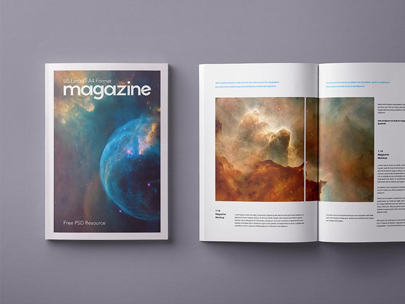 Free Psd Magazine Mockup Template US A4 a4 us template mockup magazine psd