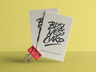 Free Psd Business Card Mock-Up mock-up card business psd