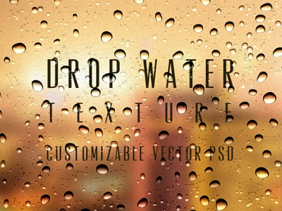 Psd Water Drops Background Texture (Freebie) psd water drops background texture