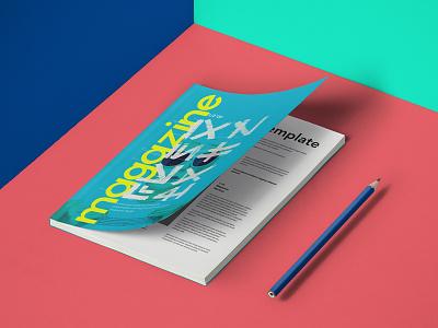 Free A5 Psd Magazine Mockup mockup magazine psd a5