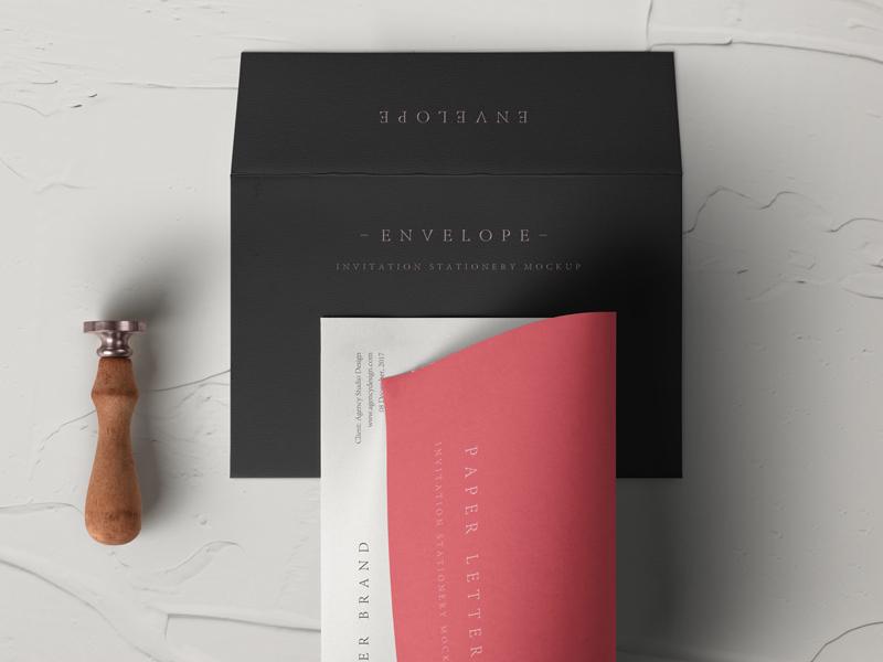 Free Psd Invitation Envelope Mockup mockup envelope invitation psd