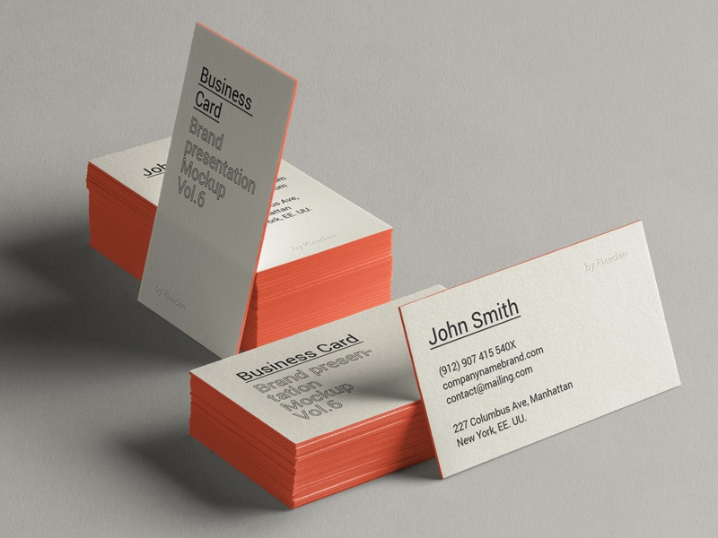 Free Psd Business Card Brand Mockup mockup brand card business psd