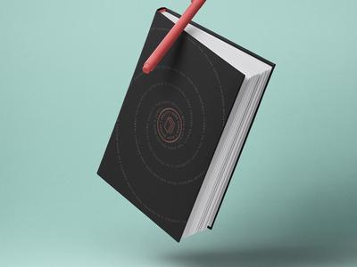 Free Gravity Psd Book Mockup Hardcover