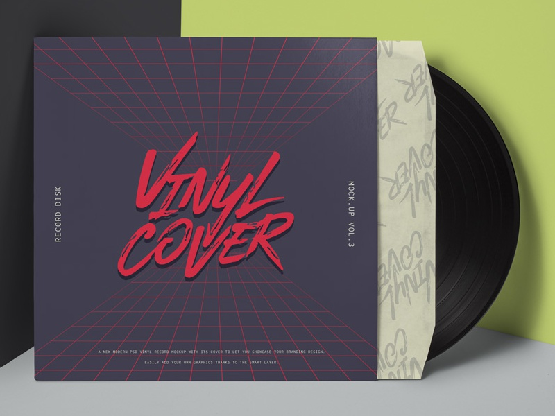 Free Psd Vinyl Cover Record Mockup mockup record cover vinyl psd