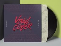 Free Psd Vinyl Cover Record Mockup
