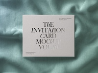 Free Psd Invitation Card Mockup
