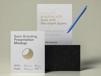 Free Psd Basic Stationery Branding Mockup