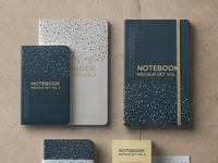 Free Psd Notebook Mockup Set