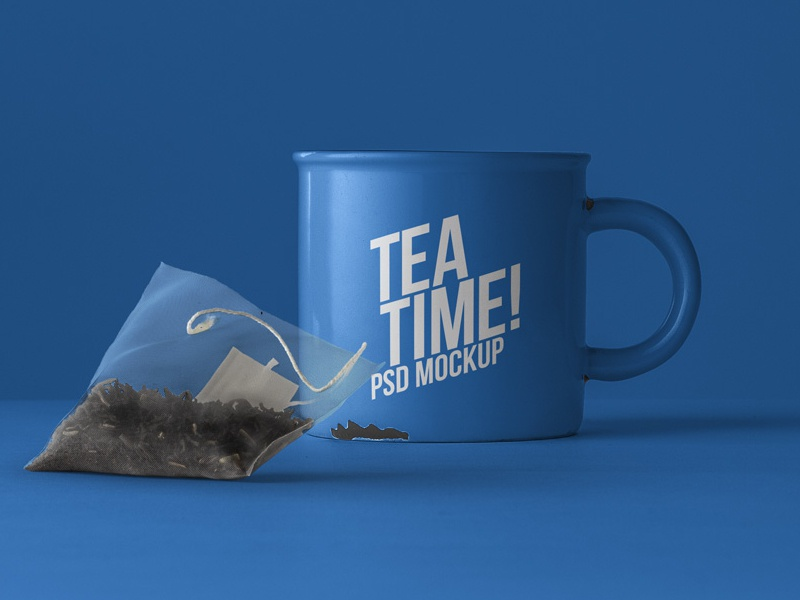 001 tableware tea cup bag psd free mockup