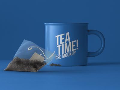Free Psd Tea Mug Mockup