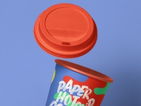 Free Gravity Psd Paper Hot Cup Mockup