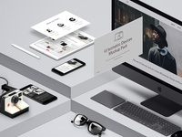 Free UI Isometric Psd Devices Pack