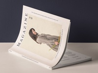 Free Cover Magazine Mockup Presentation