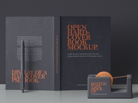 Free Open Hard Cover Book Mockup
