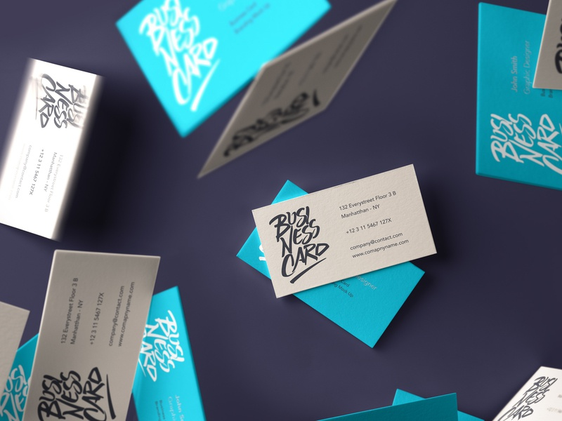 Free Falling Psd Business Card Mockup business card design business card mockup mockup psd