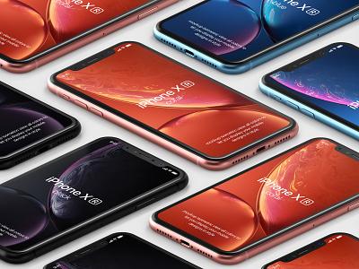 Free iPhone XR Psd Mockup mockup iphone xr iphone x mockup psd iphone xr mockup