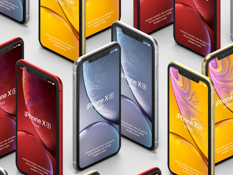 Free iPhone XR Psd Mockup Vol4 psd mockup iphone xr mockup iphone