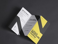 Free Z-Fold Psd Brochure Mockup