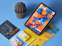 Free Psd iPad Stationery Branding Mockup