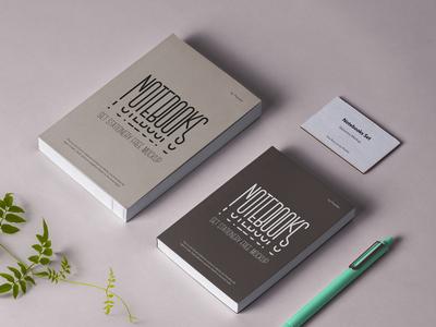 Free Psd Notebook Stationery Mockup