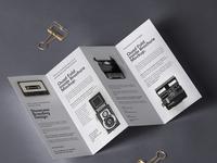 Free Psd Brochure Mockup 4 Panel