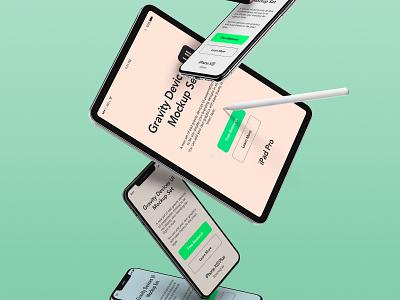 Free Gravity Psd Devices UI Mockup psd ipad pro ipad pro mockup