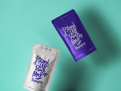 Free Stand-Up Psd Pouch Packaging Mockup packaging mockup pouch mockup