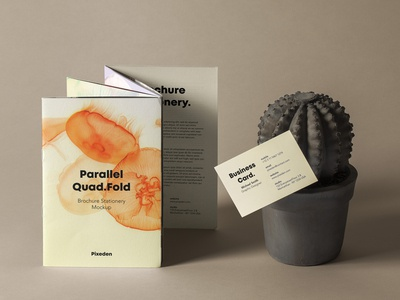 Free Quad Fold Psd Brochure Mockup