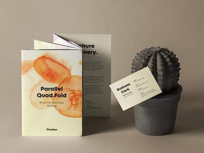 Free Quad Fold Psd Brochure Mockup brochure mockup