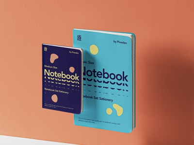Free Gravity Psd Notebook Set Mockup gravity notebook mockup