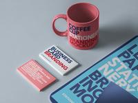 Free Psd Stationery Branding Mockup Set