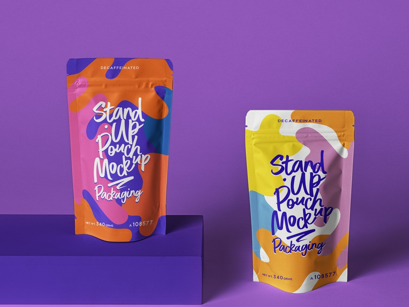 Free Psd Stand Up Pouch Packaging Mockup packaging mockup pouch mockup