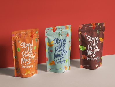 Free Psd Stand-Up Pouch Packaging Mockup