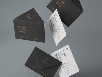 Free Gravity Psd Invitation Mockup