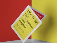 Free Psd Half Fold Brochure Mockup