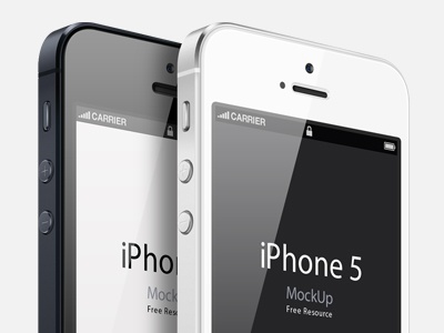 3/4 View iPhone 5 Psd Vector Mockup psd vector mockup iphone 5