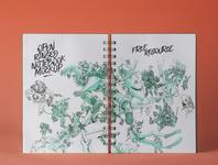 Free Psd Sketchbook Mockup