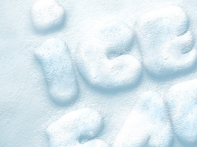 Free Psd Snow Text Effect