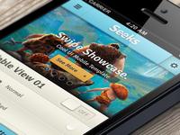 Seeks iPhone App UI Kit Psd