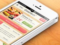 Gourmet iPhone App UI Kit Psd